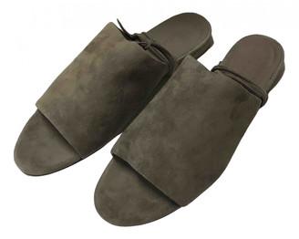 Vince Grey Suede Sandals