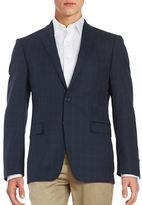 Calvin Klein Plaid Wool Jacket