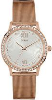 GUESS Women's Rose Gold-Tone Stainless Steel Mesh Bracelet Watch 39mm U0766L3