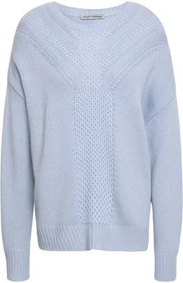 Autumn Cashmere Crochet-paneled Knitted Sweater