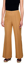 George Simonton Petite Denim Fit and Flare Pants w/ Pintuck Detail