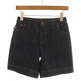 Louis Vuitton Blue Cotton Shorts