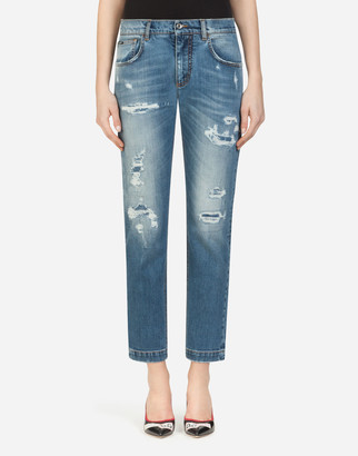 Dolce & Gabbana Boyfriend-Fit Jeans In Stretch Denim
