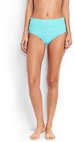 Lands' End Women's Texture High Waist Bikini Bottoms-Calypso Blue