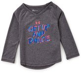 Under Armour Little Girls 2T-6X Get Up And Dance Long-Sleeve Tee