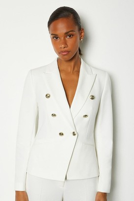 Karen Millen Tailored Button Military Blazer