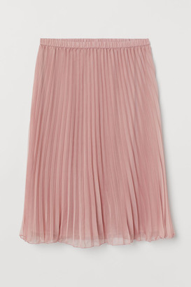 H&M H&M+ Pleated Skirt - Pink
