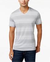 Alfani Men's Big and Tall V-Neck Striped T-Shirt, Only at Macy's