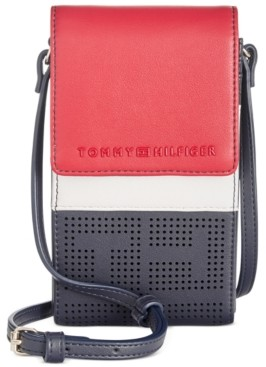 Tommy Hilfiger Callie Perforated Phone Crossbody