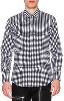 DSQUARED2 Houndstooth Long-Sleeve Sport Shirt, Black/White