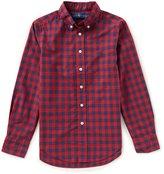 Ralph Lauren Big Boys 8-20 Checked Long-Sleeve Poplin Shirt