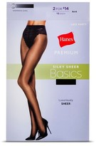 Hanes Women's Premium Women's Silky Sheer French Pantyhose - Jet Black