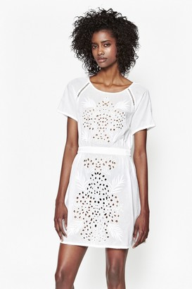 French Connection Embroidered Beach Mini Dress