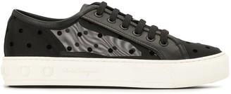 Salvatore Ferragamo Polka Dot Low-Top Sneakers