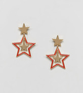Monki Triple Star Stud Earrings