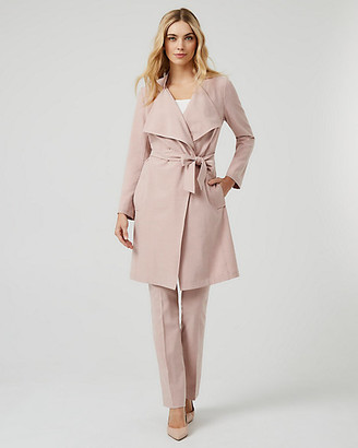 Le Château Belted Viscose Blend Trench Coat