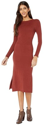 BCBGeneration Midi Sweater Dress TUO6254572 (Russet Brown) Women's Clothing