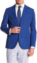 Brooks Brothers Notch Lapel Two Button Solid Blue Jacket
