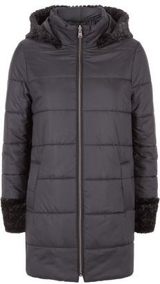 Puffa James Lakeland Faux Fur Hooded Coat