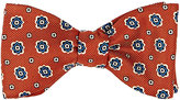 Barneys New York Men's Floral-Medallion Silk Twill Bow Tie-ORANGE