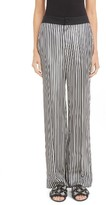 Lanvin Women's Bachette Stripe Wide Leg Pants