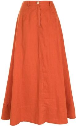 STAUD Cybele A-line long skirt