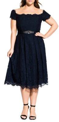 City Chic Lace Dreams Dress