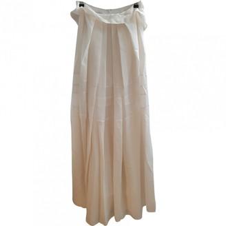 Philosophy di Alberta Ferretti White Silk Skirts