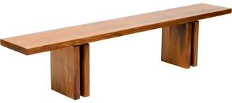 """Artless Occidental Wood Bench Size: 18"""" H x 132"""" W x 16"""" D"""