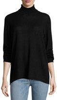 Neiman Marcus Cashmere Turtleneck Sweater, Black