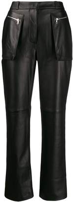 David Koma high-waist leather trousers