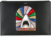 Saint Laurent shark patch document holder