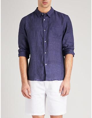 Derek Rose Solid linen shirt