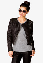Forever 21 Street-Femme Quilted Moto Jacket