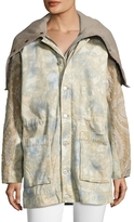 Free People Layered Tie Dye Parka