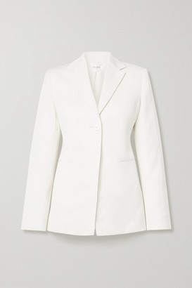 The Row Kiro Silk And Linen-blend Blazer - Ivory