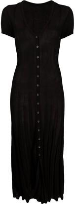 Jacquemus Buttoned Fine-Knit Midi Dress