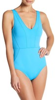 Tommy Bahama Pearl Seamed One-Piece Swimsuit