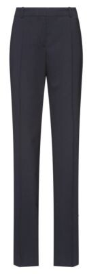 HUGO Regular-fit trousers in lightly worsted stretch virgin wool