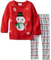 Little Lass Toddler Girl Knit Sweater & Fairisle Patterned Leggings Set