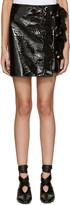 Kenzo - Mini-jupe vernie noire