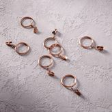 Thin Metal Curtain Rings + Clips (Set of 7)