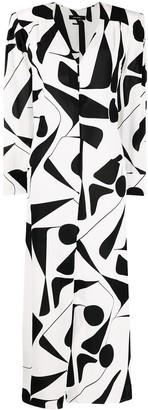 Isabel Marant Abstract-Print Silk Dress
