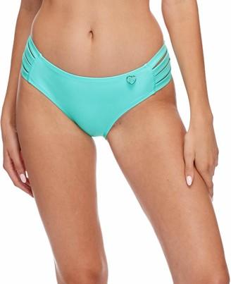 Body Glove Women's Smoothies Nuevo Contempo Solid Full Coverage Bikini Bottom Swimsuit
