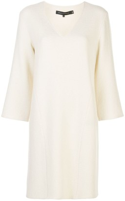 Sally LaPointe fine knit shift dress