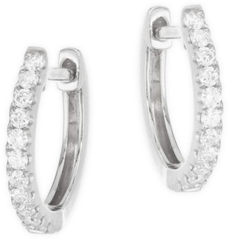 Anita Ko 18K White Gold Small Diamond Huggie Earrings