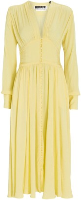 Rotate by Birger Christensen Tracy Button Front Midi Dress