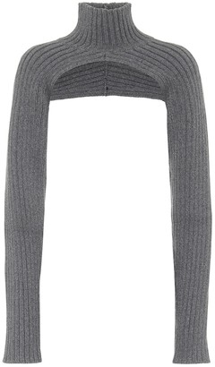 Peter Do Ribbed-knit turtleneck shrug