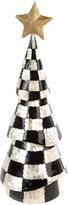 Mackenzie Childs Black & White Check Capiz Tree Ornament