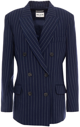 Paul & Joe Pinstriped Linen-blend Blazer